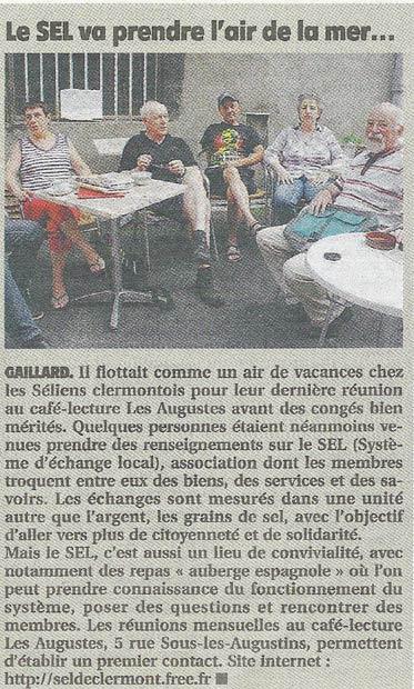 Permanence du SEL aux Augustes - Juillet 2013